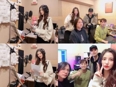 가수 '김해리', 두 번째 싱글 녹음 현장 공개…프로듀서 군단과 화기애애 분위기